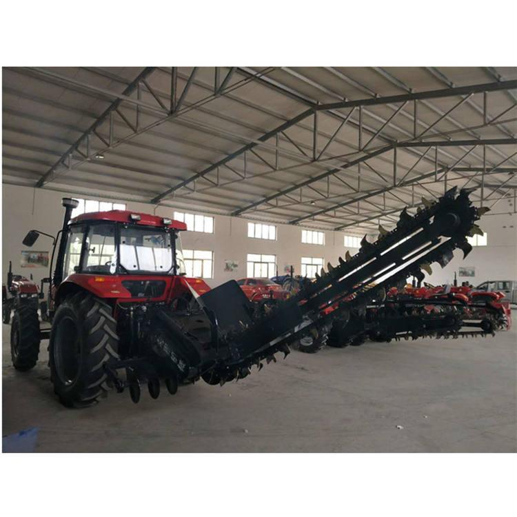 厂商链条式拖拉机开沟机自动回填型开槽机械 改装拖拉机开沟机