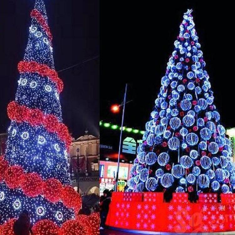 爆款 创意圣诞树 铁艺造型灯 大型圣诞树场景布置