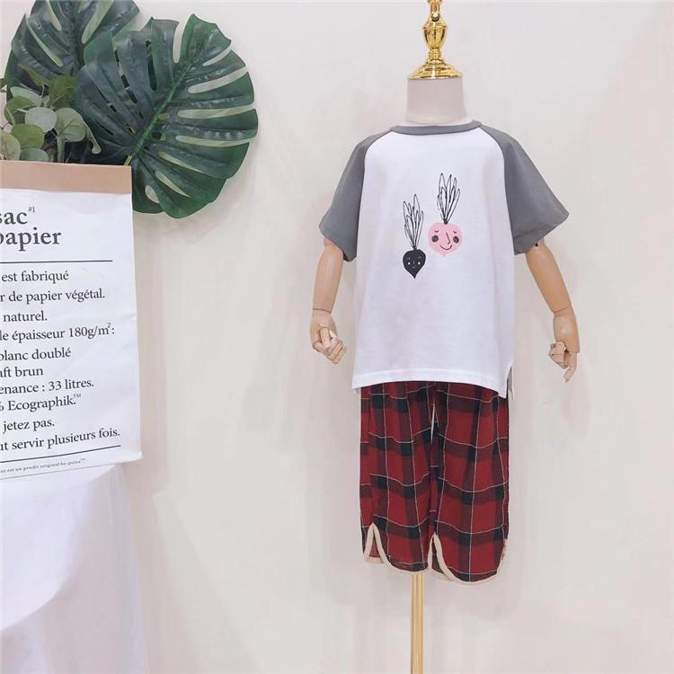 2020年夏装三个小孩童装批发 儿童新款童套装 批发品牌折扣童装