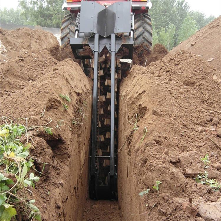 农用果园施肥开沟机链条式开槽机 拖拉机链条式开沟机