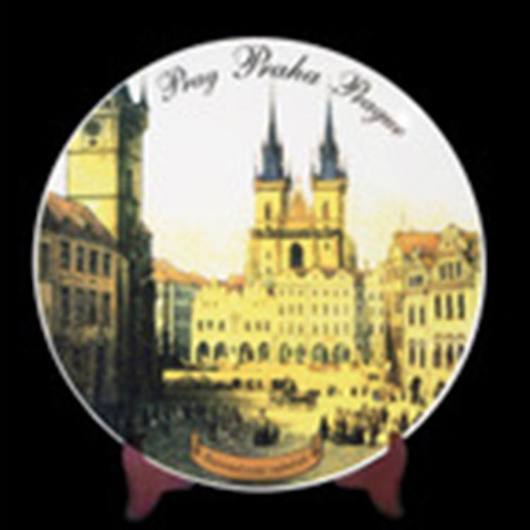 陶瓷影像盘 陶瓷盘定制 给客户设计图片 logo