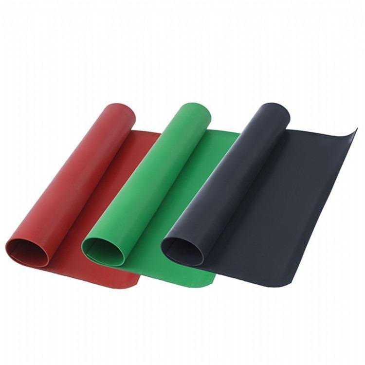 鑫辰电力厂家生产1.2米1.5米2米一米半宽红色黑色绿色平面防滑绝缘橡胶板胶垫