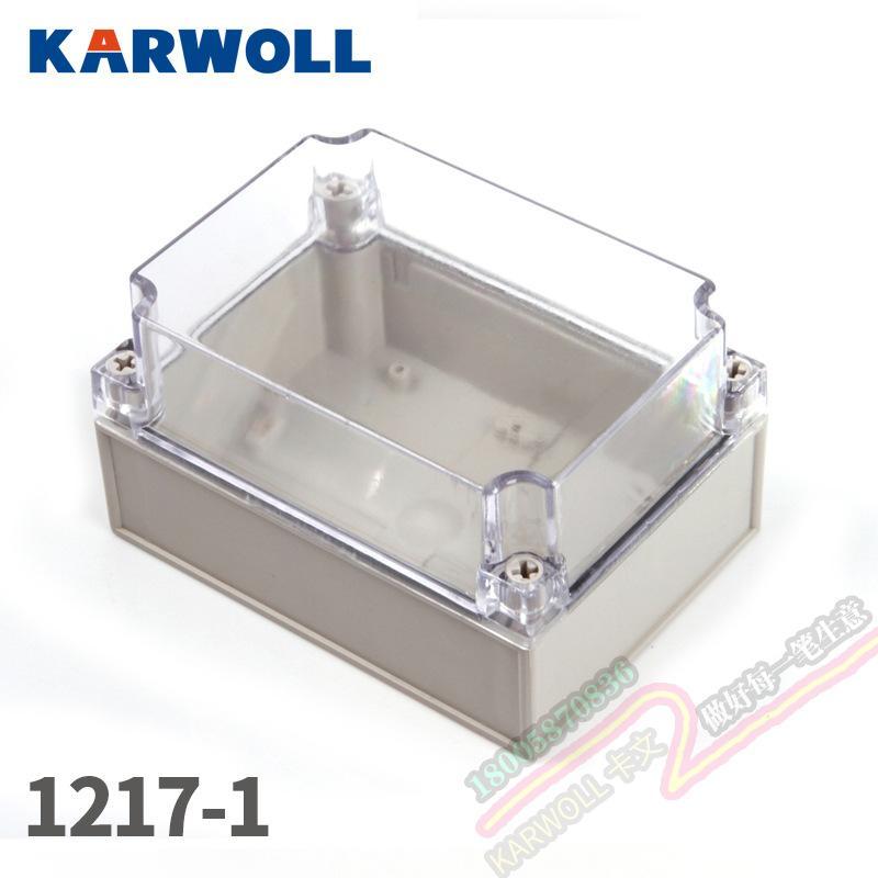 KARWOLL卡文 室外防水盒IP67户外防水接线盒透明盖ABS塑料密封盒箱仪表箱接线盒