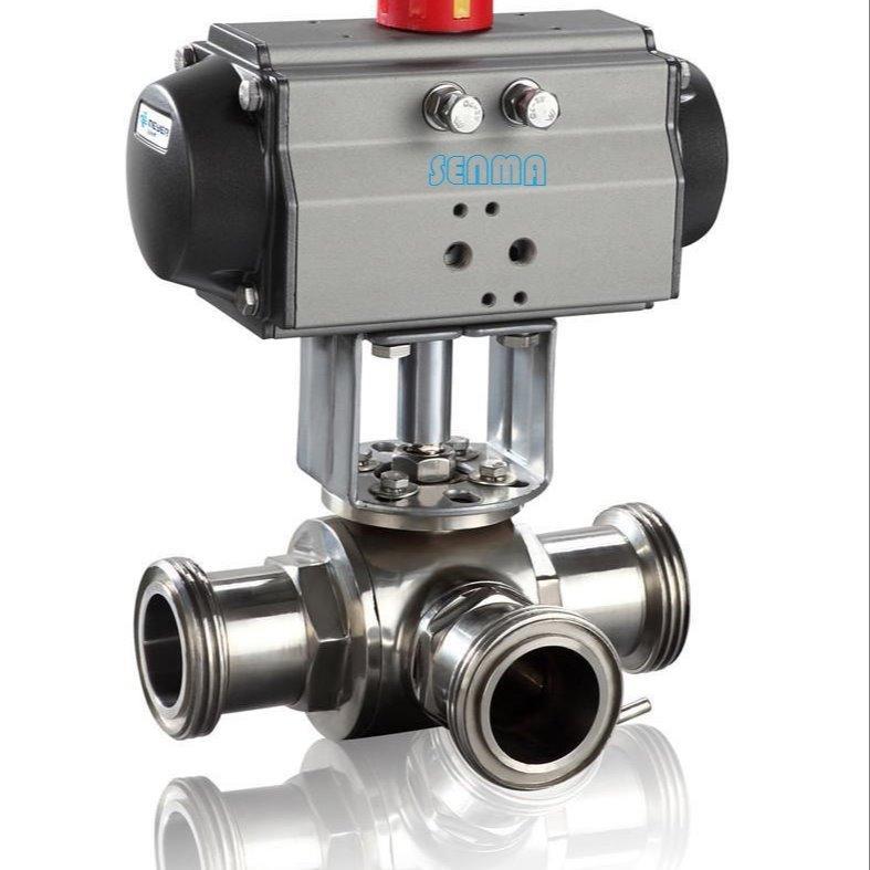 Q684F/Q685F气-动卫生级三通球阀