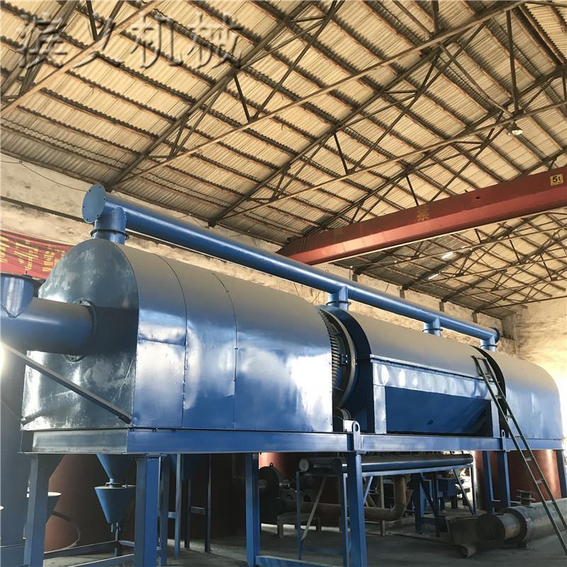 滨义无烟全套卧式炭化机 新型节能木炭碳化炉设备 秸秆锯末滚筒炭化机