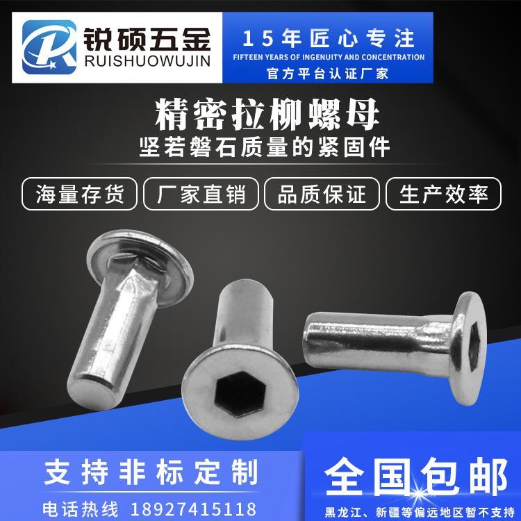 管可以用拉铆螺母 平头光面拉铆螺母