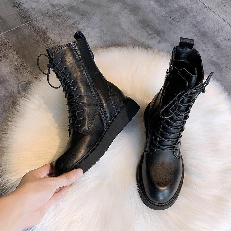 小码女鞋复古英伦风靴子女厂家直售