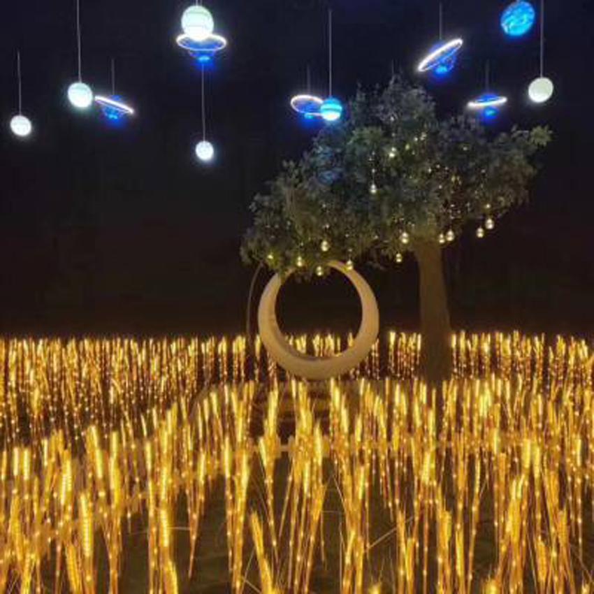 盖香云led郁金花玫瑰花仿真景观灯 户外草坪装饰灯 夜景装饰灯