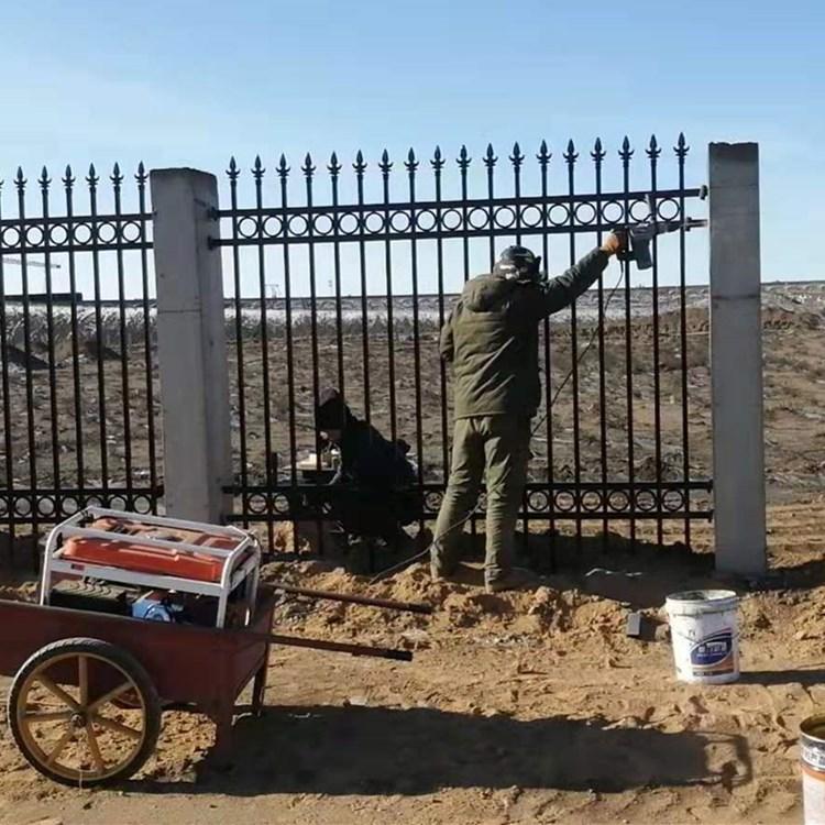 草坪护栏-锌钢草坪围栏景观绿化带园艺栏杆-绿化护栏生产厂家包安装