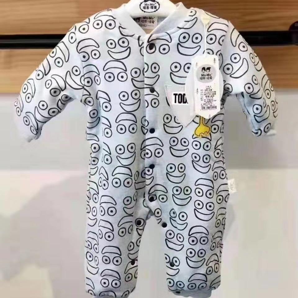 衣拉拉瑁恩瑁爱专业婴童爬服 品牌童装折扣尾货 薄棉工厂直销