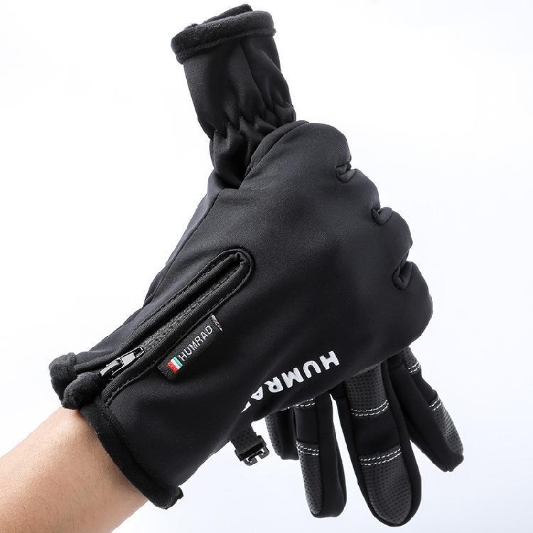 亚马逊爆款定制冬季户外男女运动触屏保暖防泼水自行车骑行手套厂家直售