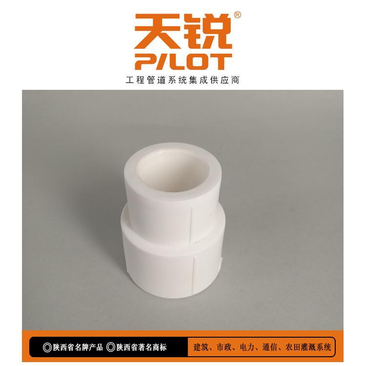 陕西天科厂家专业生产 天锐牌聚丙烯PPR给水管件 PPR异径直接 ppr大小头