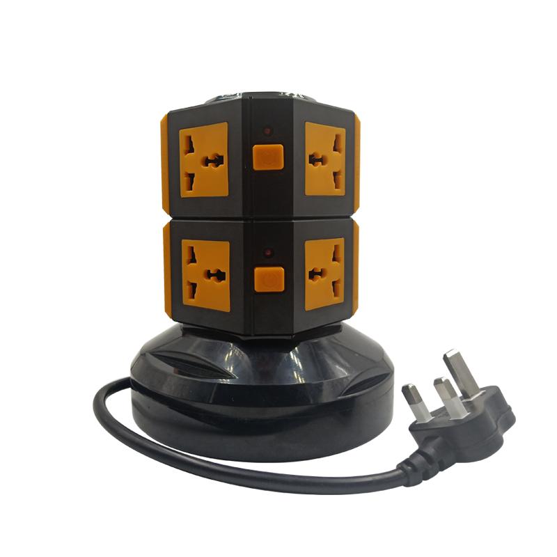 usb立式立体插座塔式排插接线板英标美标欧标出口海外转换器插线板插板香港台湾新加坡马来西亚
