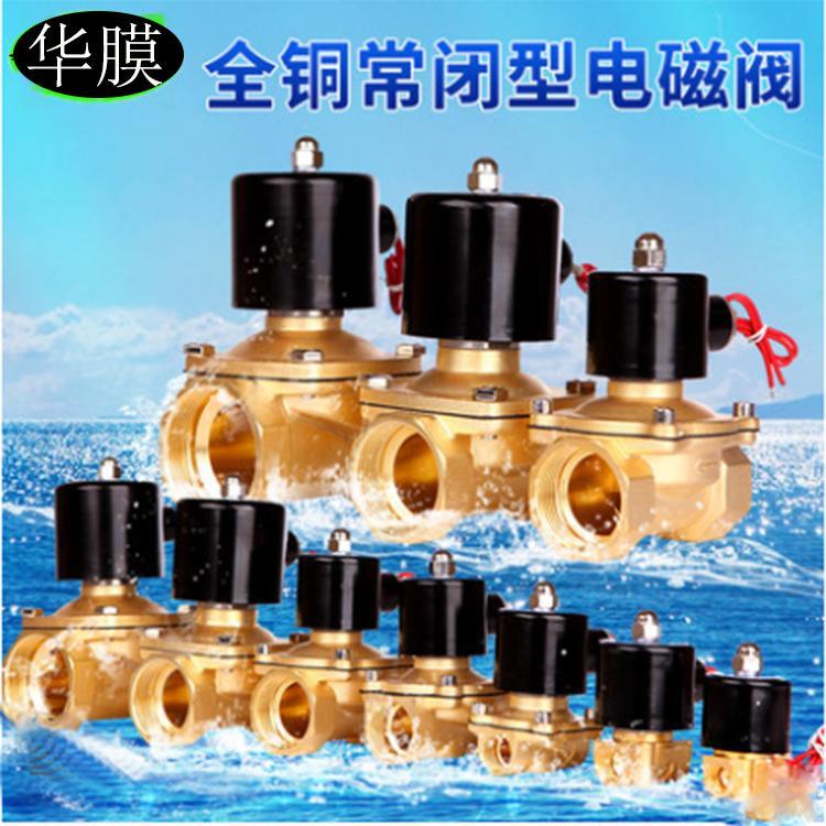 电磁阀全铜阀DN系列20.25.32.40型号齐全纯水水处理专用灌装机通用阀