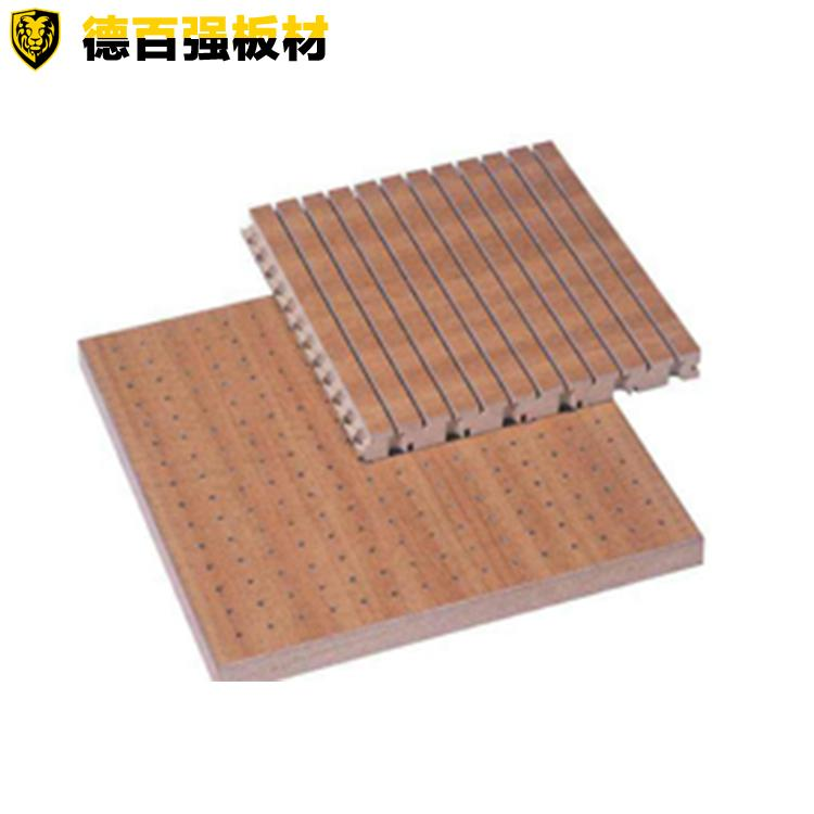 厂家供应阻燃吸音板 德百强板材4-8mm免漆隔音吸音板A级防火ktv家居饰面快装板