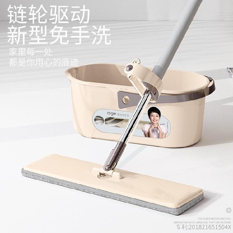 免手洗懒人平板拖把家用拖地瓷砖地擦木地板旋转拖布地拖