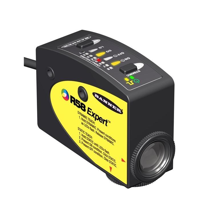 色标传感器R58ECRGB1福建厂家直销原装美国邦纳BANNER颜色传感器好价格