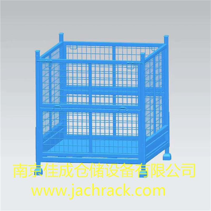 钢制料箱 金属料箱 网格式周转箱 可堆叠料框 南京佳成仓储设备物流厂家定制