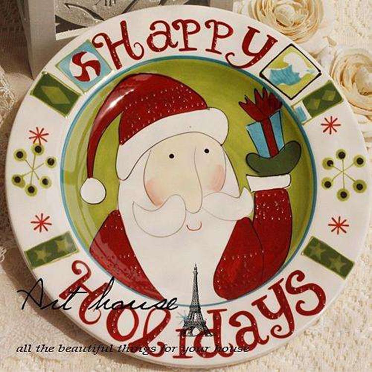 山东松德 供应陶瓷影像盘 圣诞节定制
