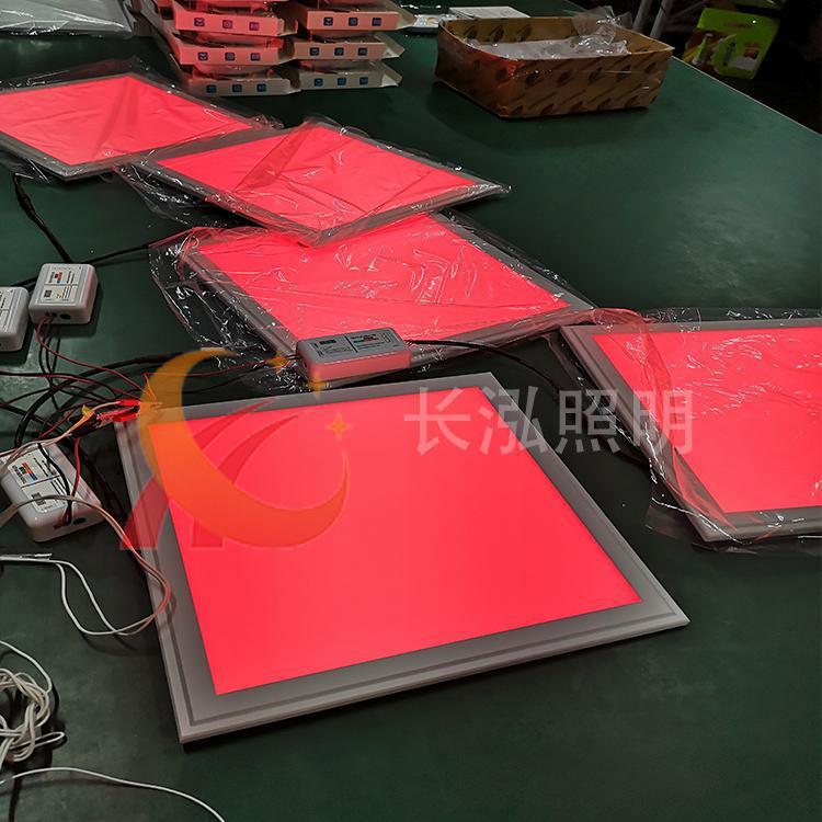 2.4G摇控调光RGB面板灯 深圳长泓DMX512七彩平板灯价格6060RGB+CCT面板灯生产厂家