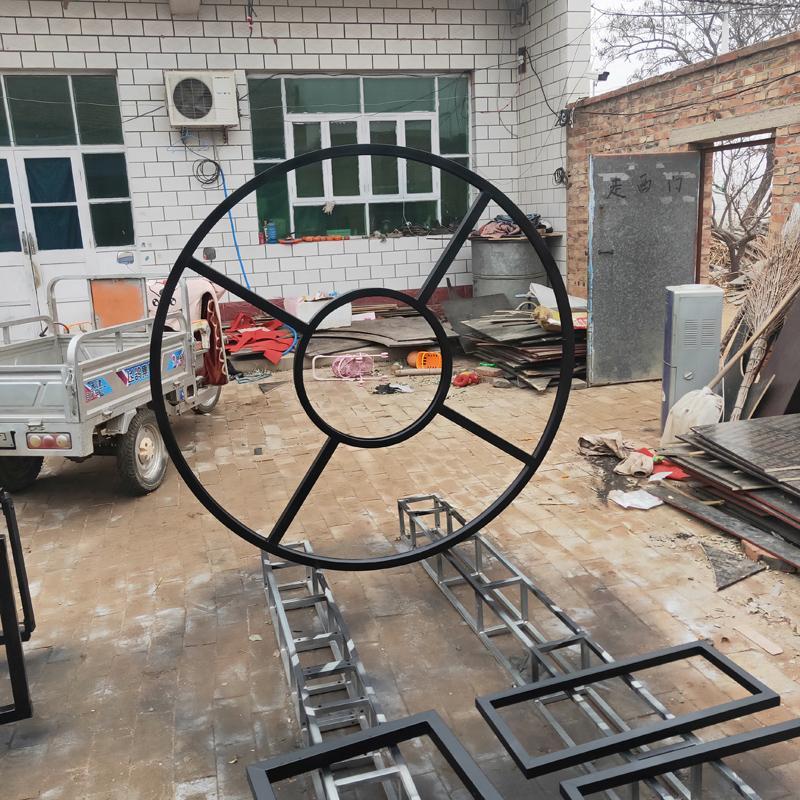 朝维生产舞台桁架背景架弧形半圆整圆热镀锌钢铁心形异形