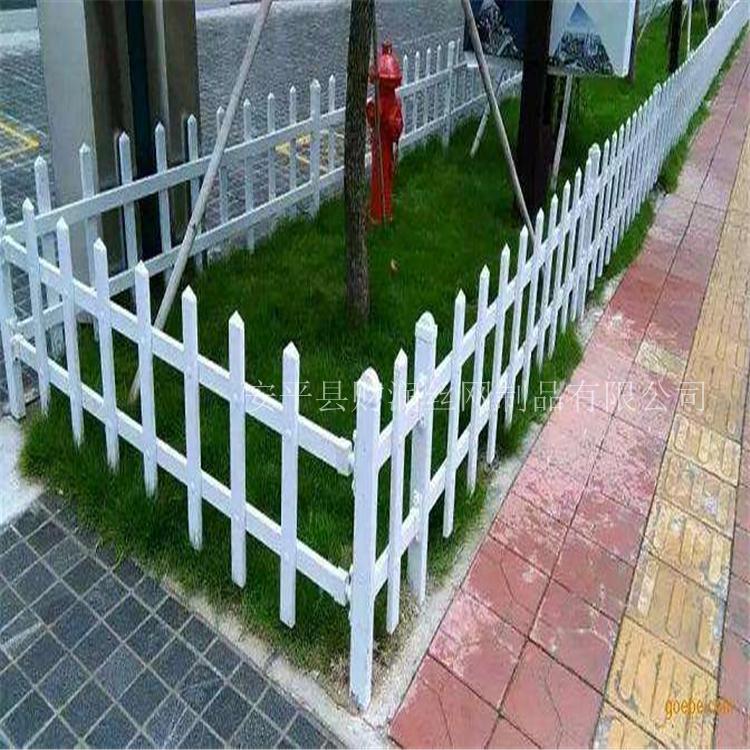 绿化带围栏 蓝白色草坪护栏 公园草坪护栏 河北安平财润生产家