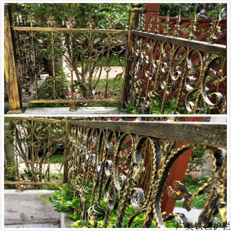 广奥厂家直销户外铁艺护栏围墙别墅围栏厂房草坪铸铁栏杆小区花园隔离栅栏