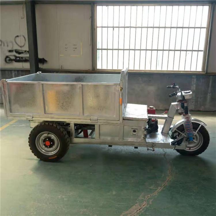 矿用电瓶三轮车 自卸工程48V工地载重载货电动三轮车