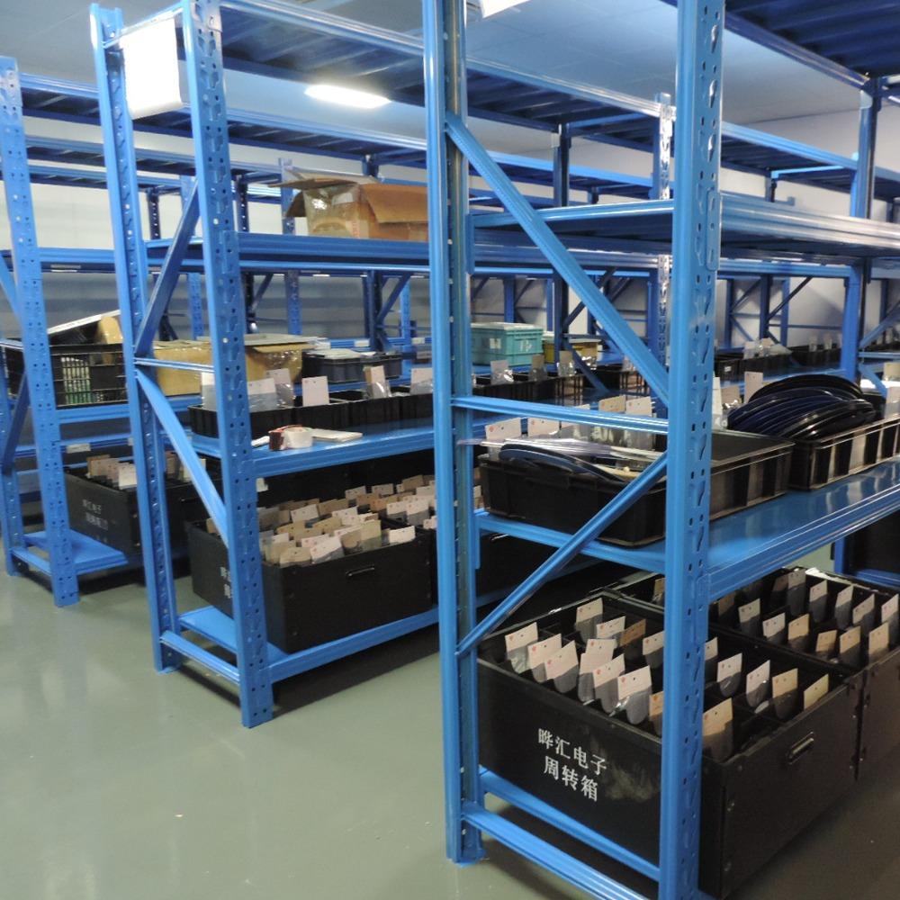 荆州仓储货架厂-供应中型货架超市置物架-荆州货架定制找得友鑫