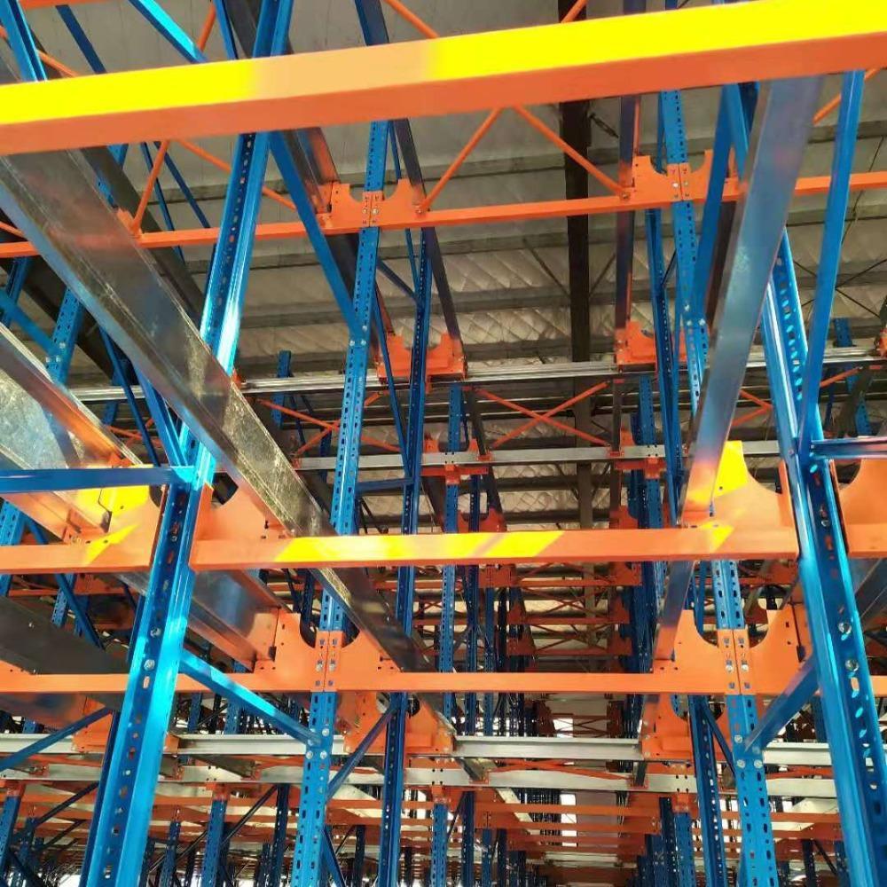 荆州仓储货架厂-供应四向穿梭车密集型立库-荆州四向车移动货架定制