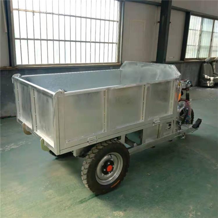拉货柴油电瓶三轮车矿用自卸工程货运车 工地载重载货电动三轮车