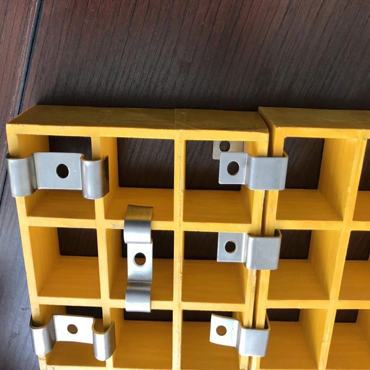 玻璃钢树篦子固定卡子 格栅安装卡扣 不锈钢L型格栅树篦子卡扣-河北信安