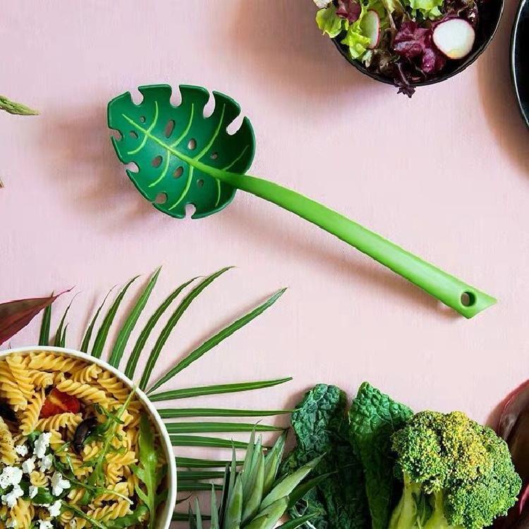 创意捞面勺龟叶勺子树叶漏勺