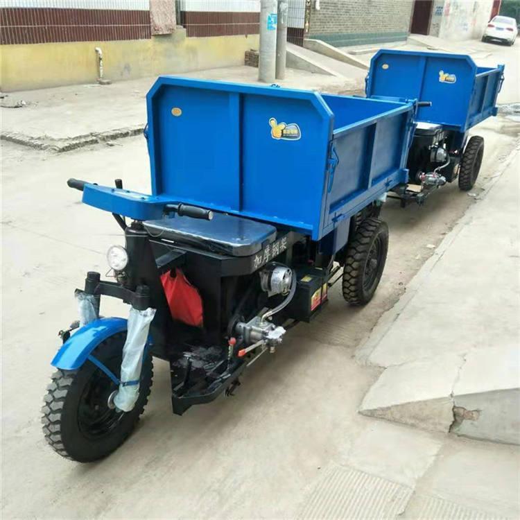 建筑载重三轮车爬坡能力强载重货运方便 工程工地用三轮车