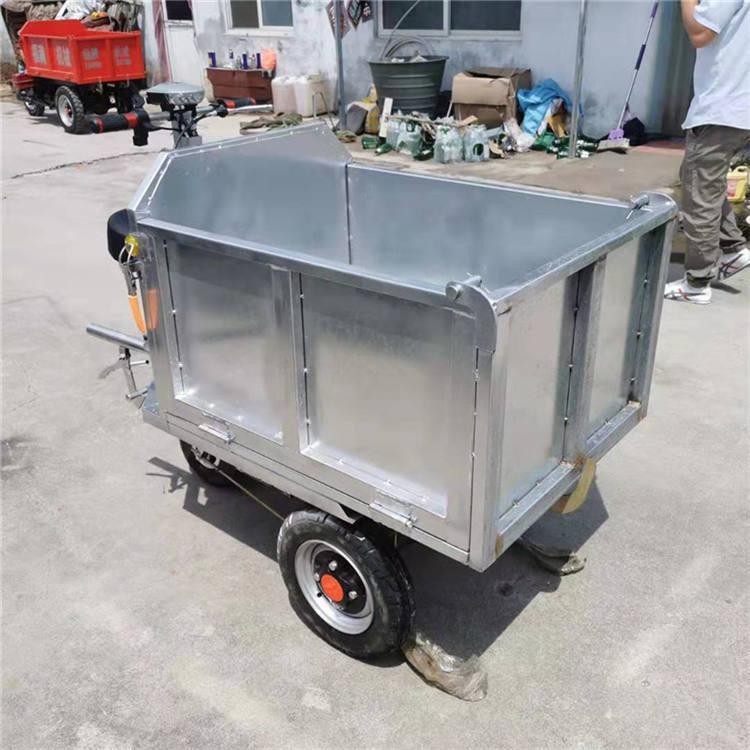 工程三轮车自卸电动载重王农用翻斗车 建筑工地小型拉砖三轮车