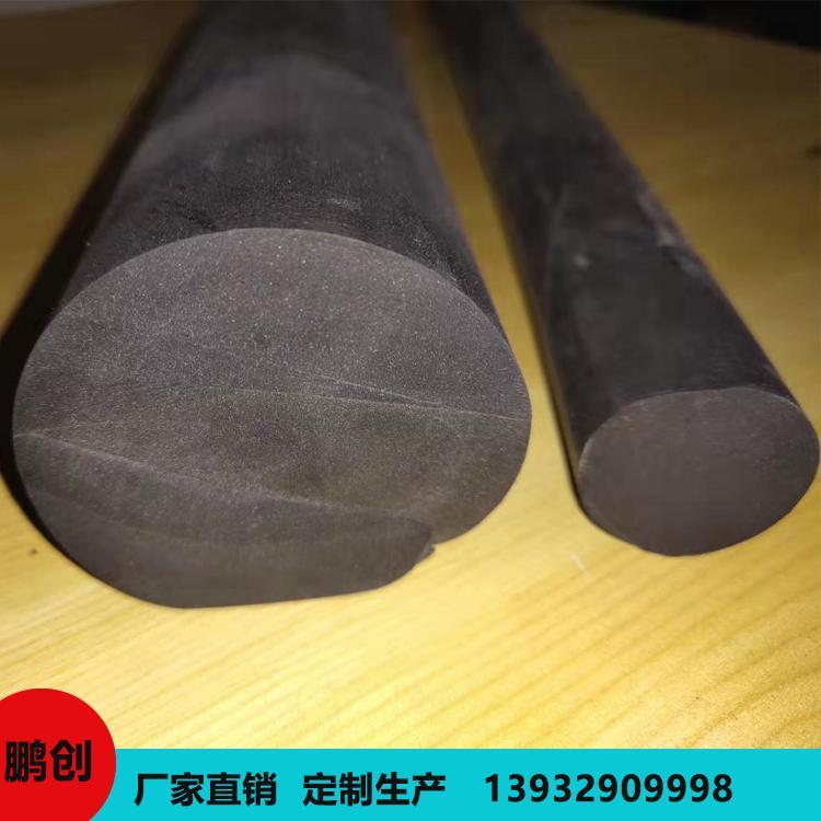 鹏创 聚氨酯橡胶棒 高弹性黑色实心橡胶棒 定制发货 量大从优