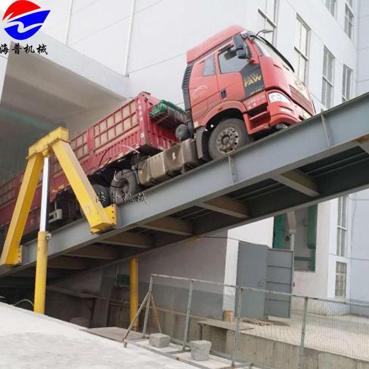 梧州大型货车液压翻板卸车机 大吨位散料自动卸车机 汽车后翻自卸平台