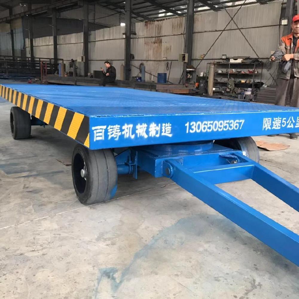 定做小型移动推货车 叉车牵引式货物搬运车 车间货物周转拖车