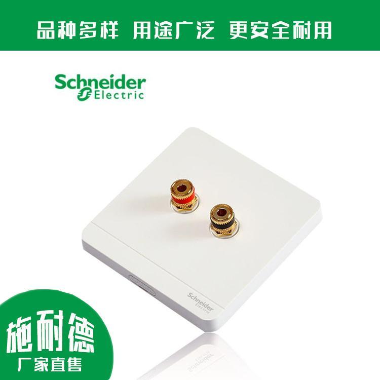 单联音箱插座 两孔音箱插座 E8331SC 可靠性高 施耐德安装方便