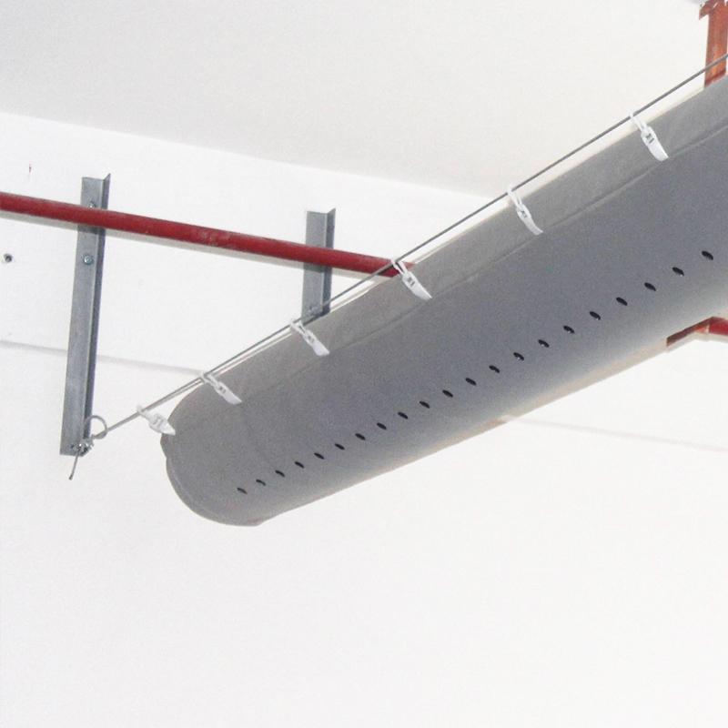 汕头布风管 设计 布袋通风 纤维织物布风管厂家