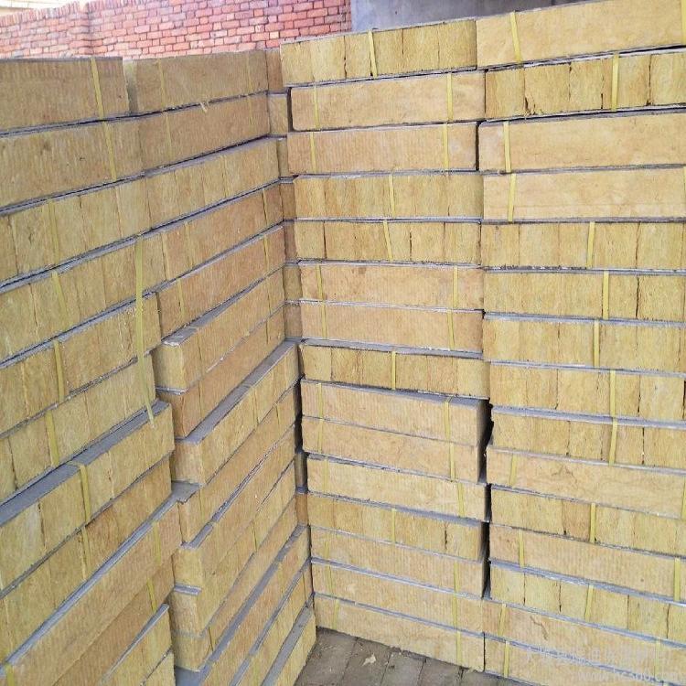 岩棉复合板 外墙保温吸音憎水防火岩棉板