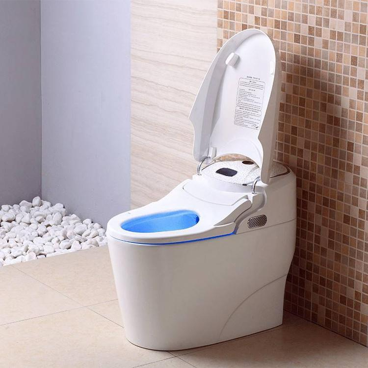 全自动冲水感应一体坐便器 即热烘干爱贝智能马桶