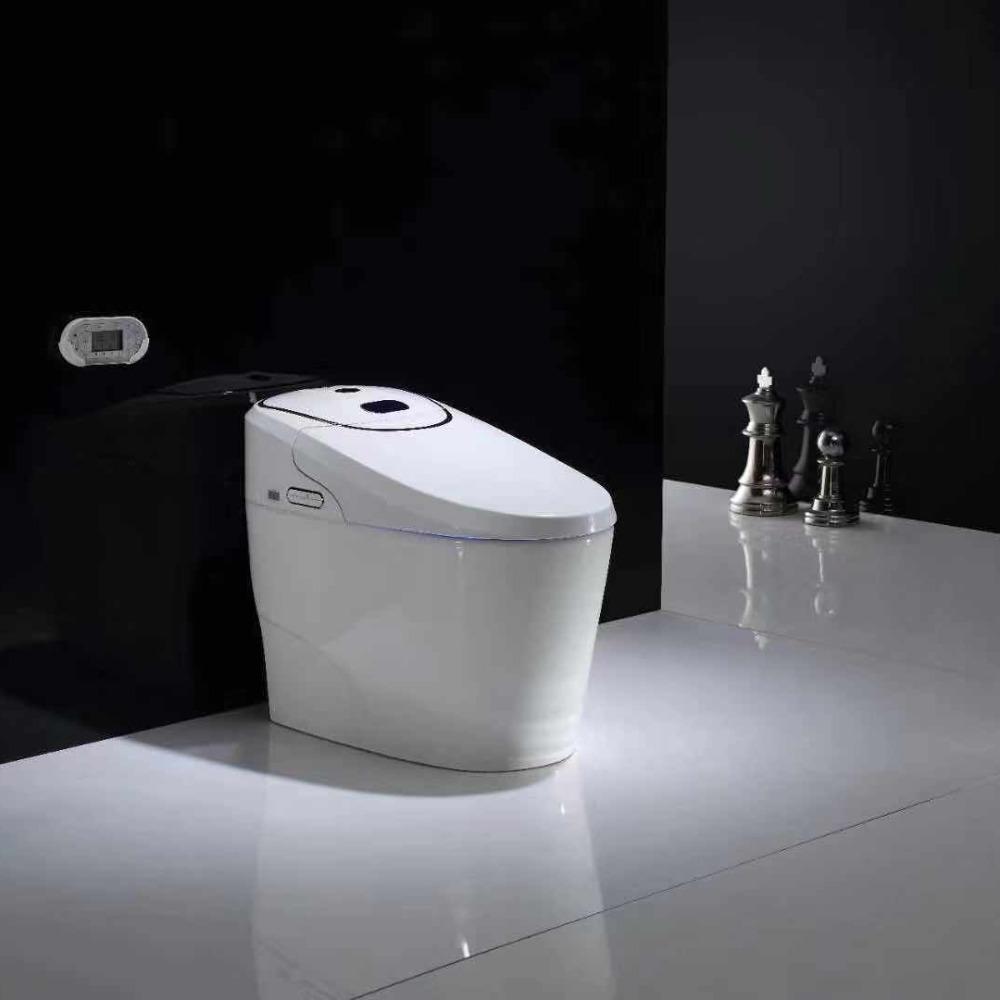 全自动冲水感应一体坐便器 即热烘干 爱贝智能马桶