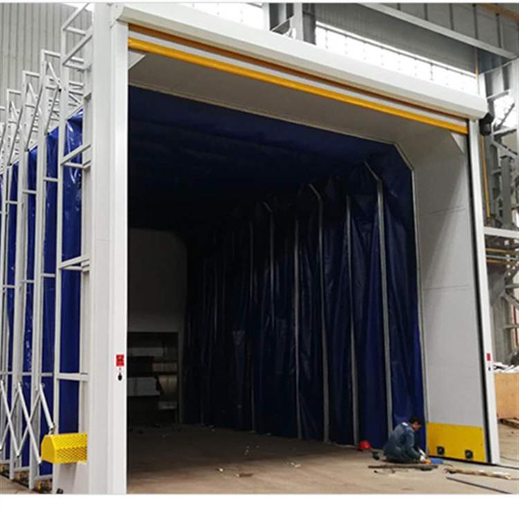 靖宇废气处理移动式伸缩喷漆房厂家专业生产制作