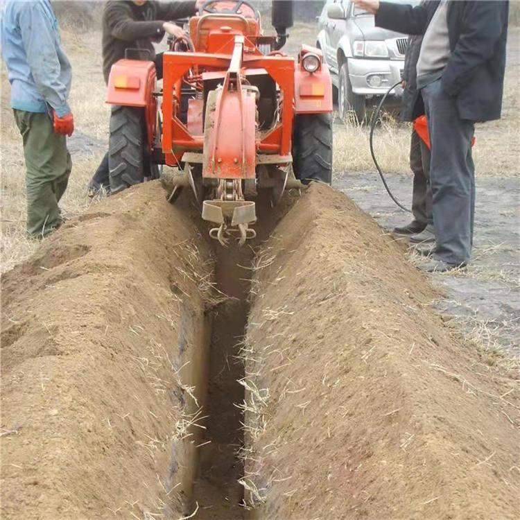 山地果园施肥开沟机链条式水管埋置开槽机 建筑工程开沟机