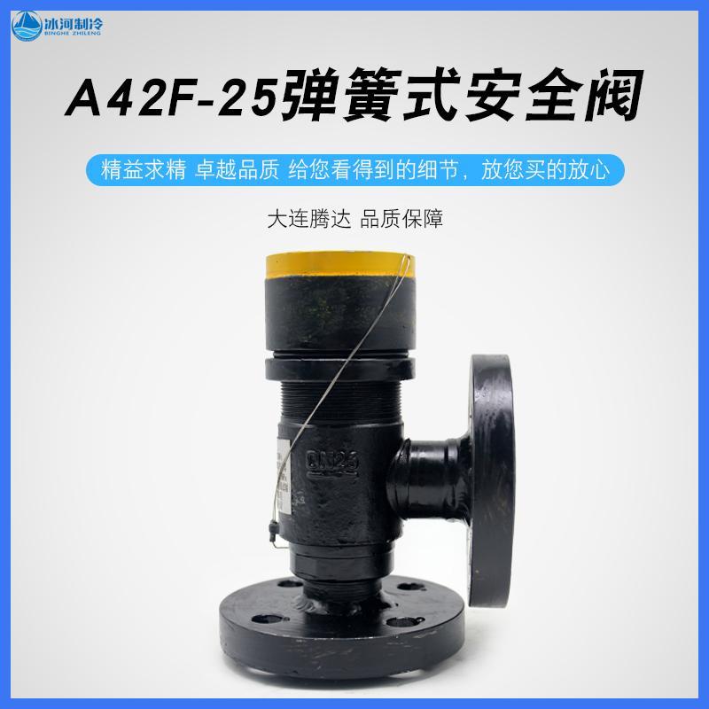 大连腾达A42F-25C弹簧式安全阀圆法兰钢质氨氟制冷阀门DN32