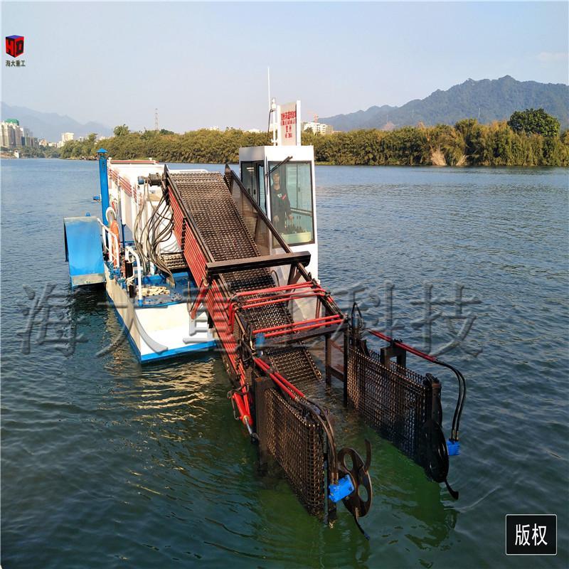 河道中的割草船能清理垃圾 生产割草船厂家 清漂船