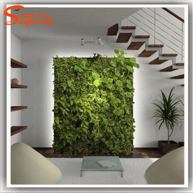 上海仿真植物墙图片 室内植物墙效果图 办公室绿色绿植背景墙价格