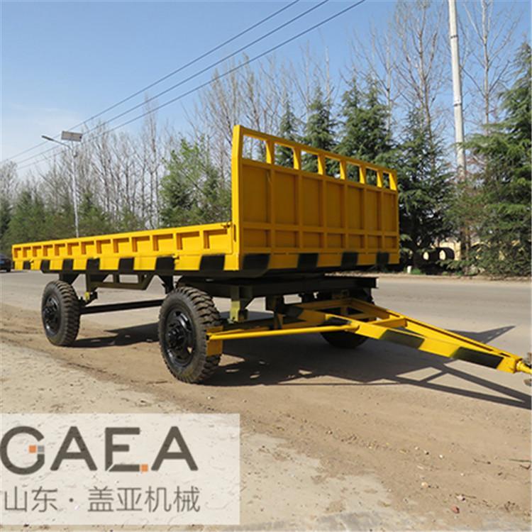 盖亚机械现货供应 小型平板拖车 厂区平板车 牵引拖车 价廉质优