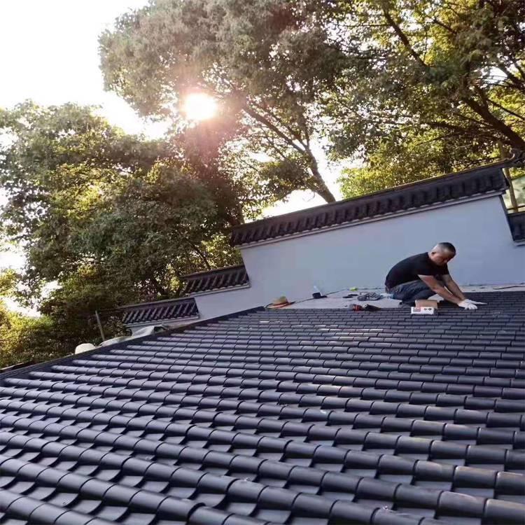 合成树脂瓦ASA防腐瓦仿古瓦塑钢瓦别墅屋顶隔热热销定制厂家直销